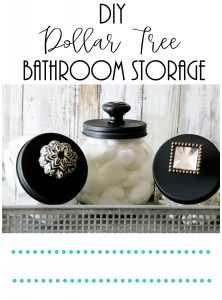 DIY dollar tree bathroom storage