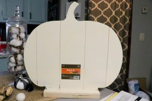 Hobby Lobby wooden pumpkin on stand