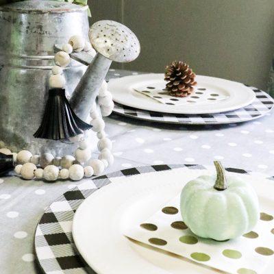 Mini Fall Tablescape on a Budget