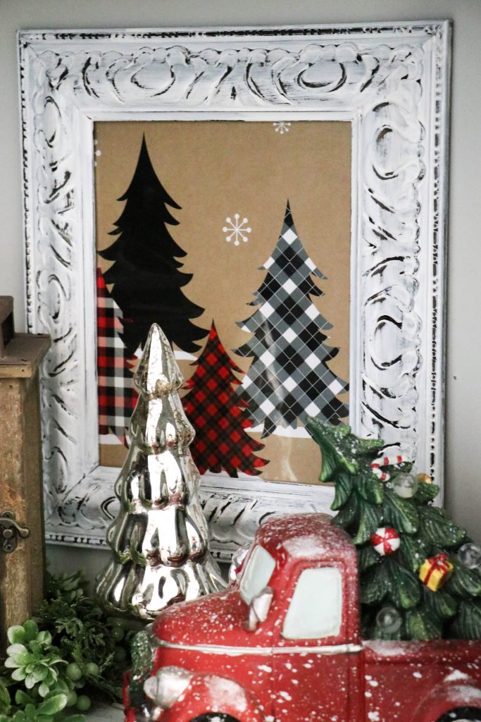 Make super cute and fun Christmas decor with a Christmas box!