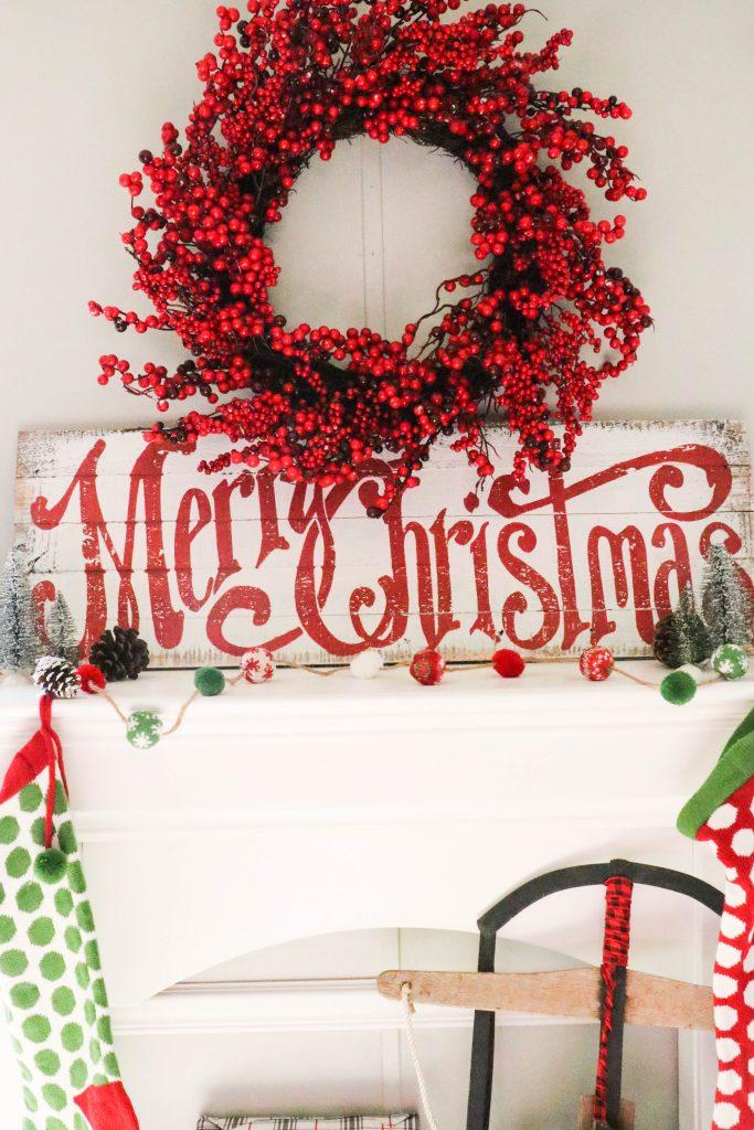 Kirkland's Christmas Mantel