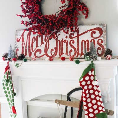 Decorating a Simplistic Christmas Mantel