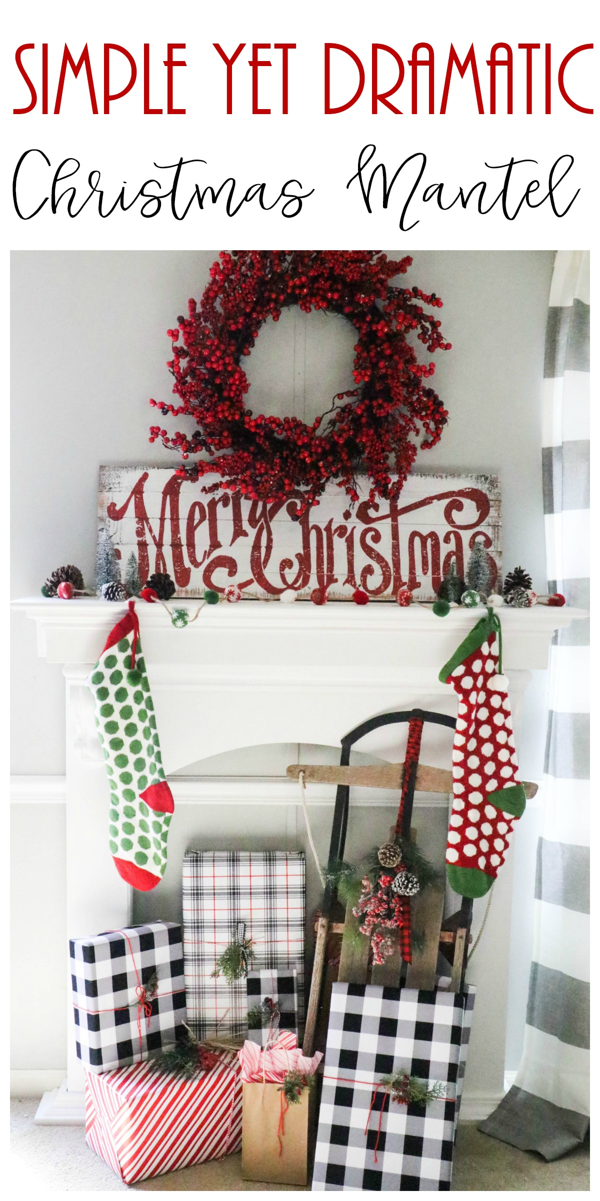 Decorating A Simplistic Christmas Mantel Re Fabbed