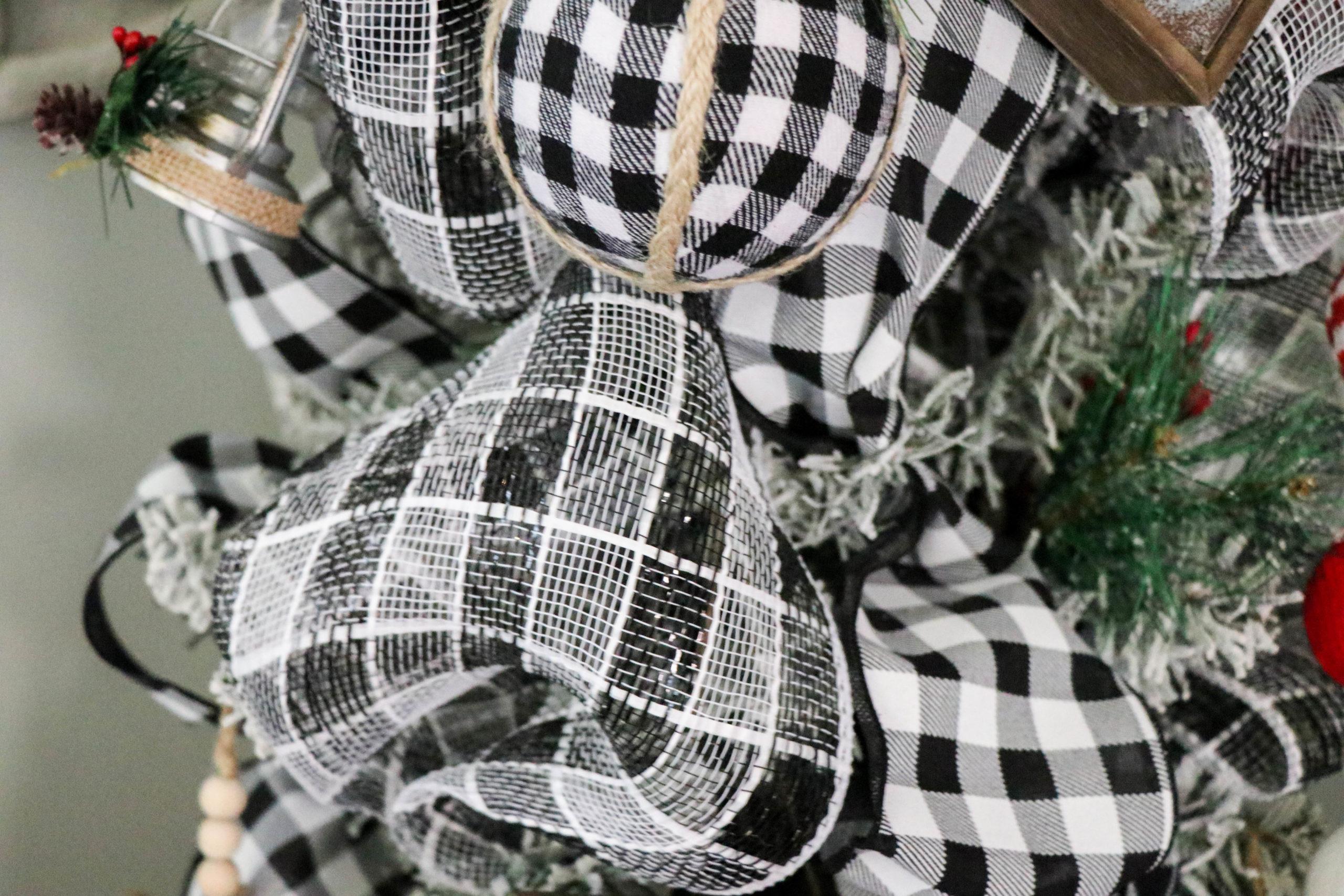 Buffalo Plaid Christmas Tree Re Fabbed