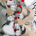 DIY Burlap Heart Banner