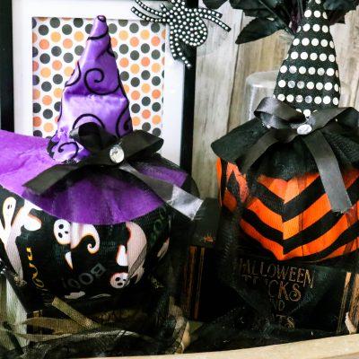 Dollar Tree Witches Hat Pumpkins