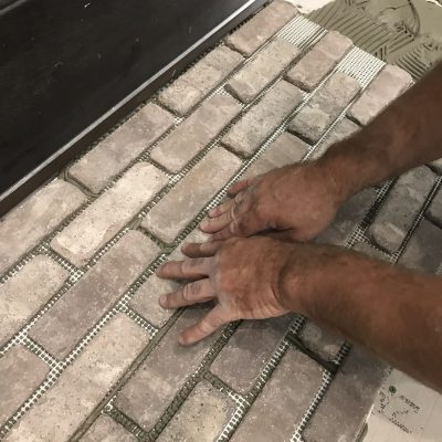 How to install brick flooring