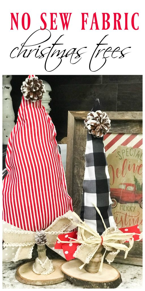 how to make a no sew fabric Christmas tree! #Christmasdecor #Christmasdiy #Christmas #nosew