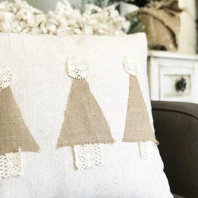 How to make a no sew Christmas tree pillow