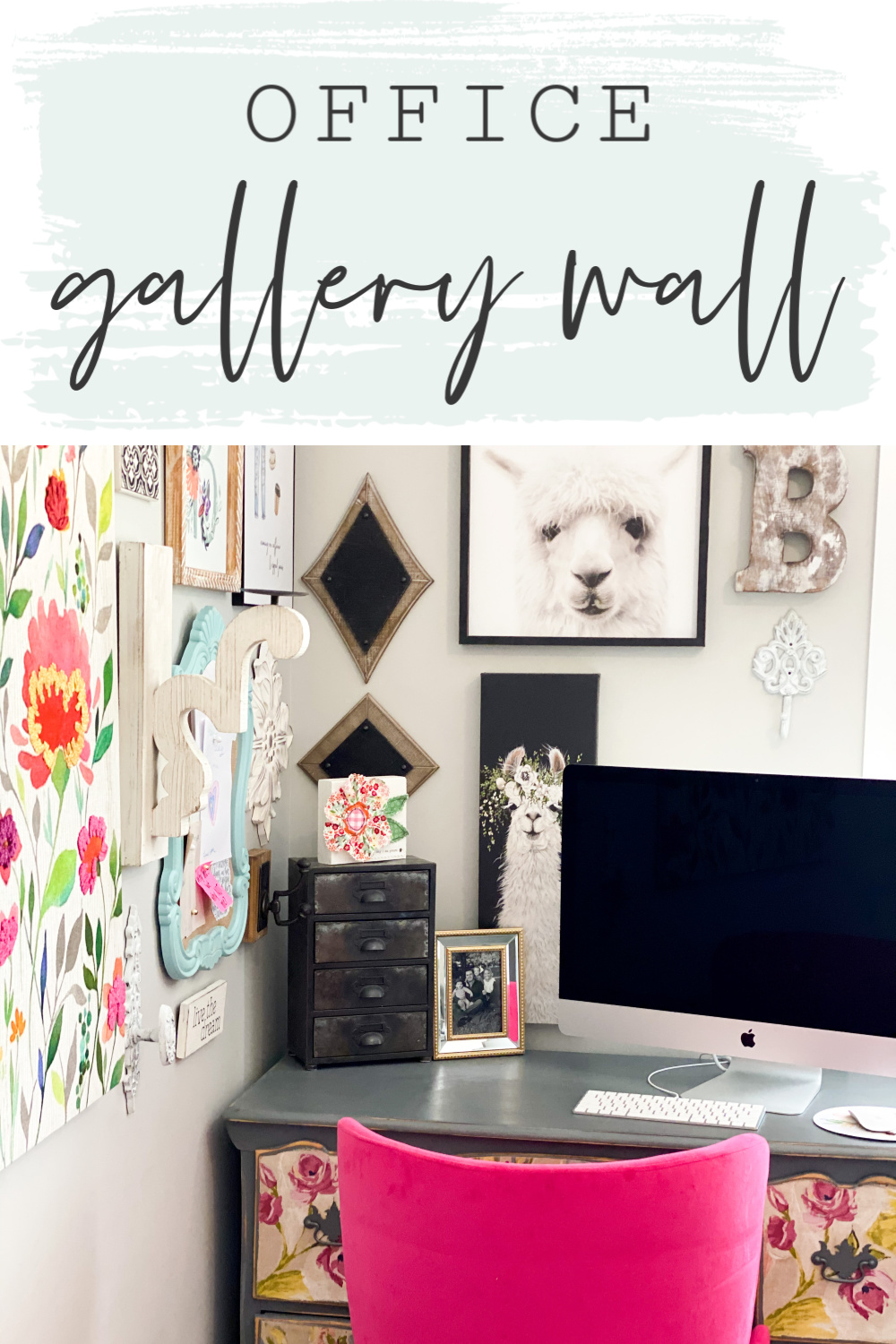 Office Gallery Wall Desk Re Fabbed