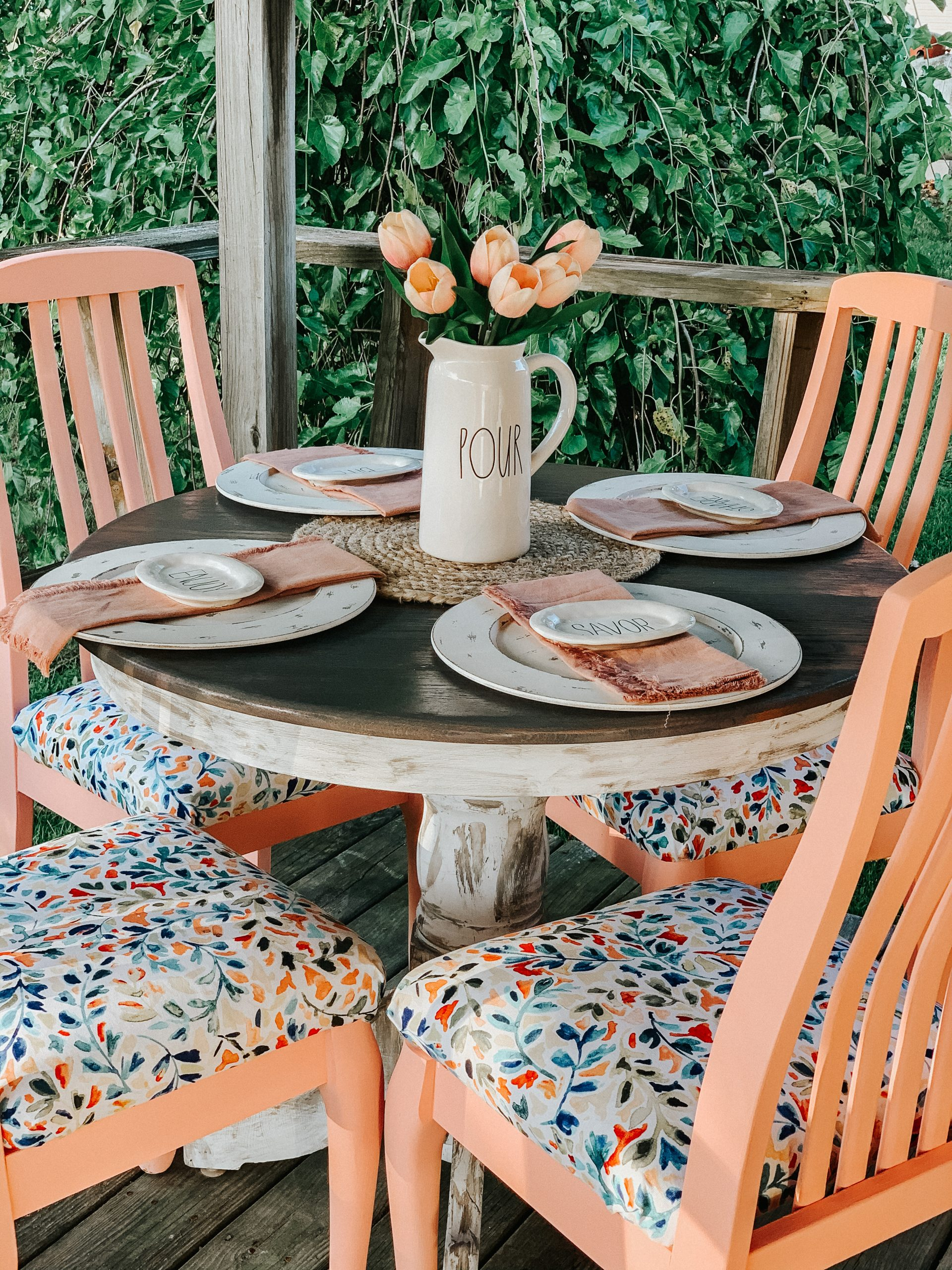 Outdoor Dining Area Transformation Re Fabbed