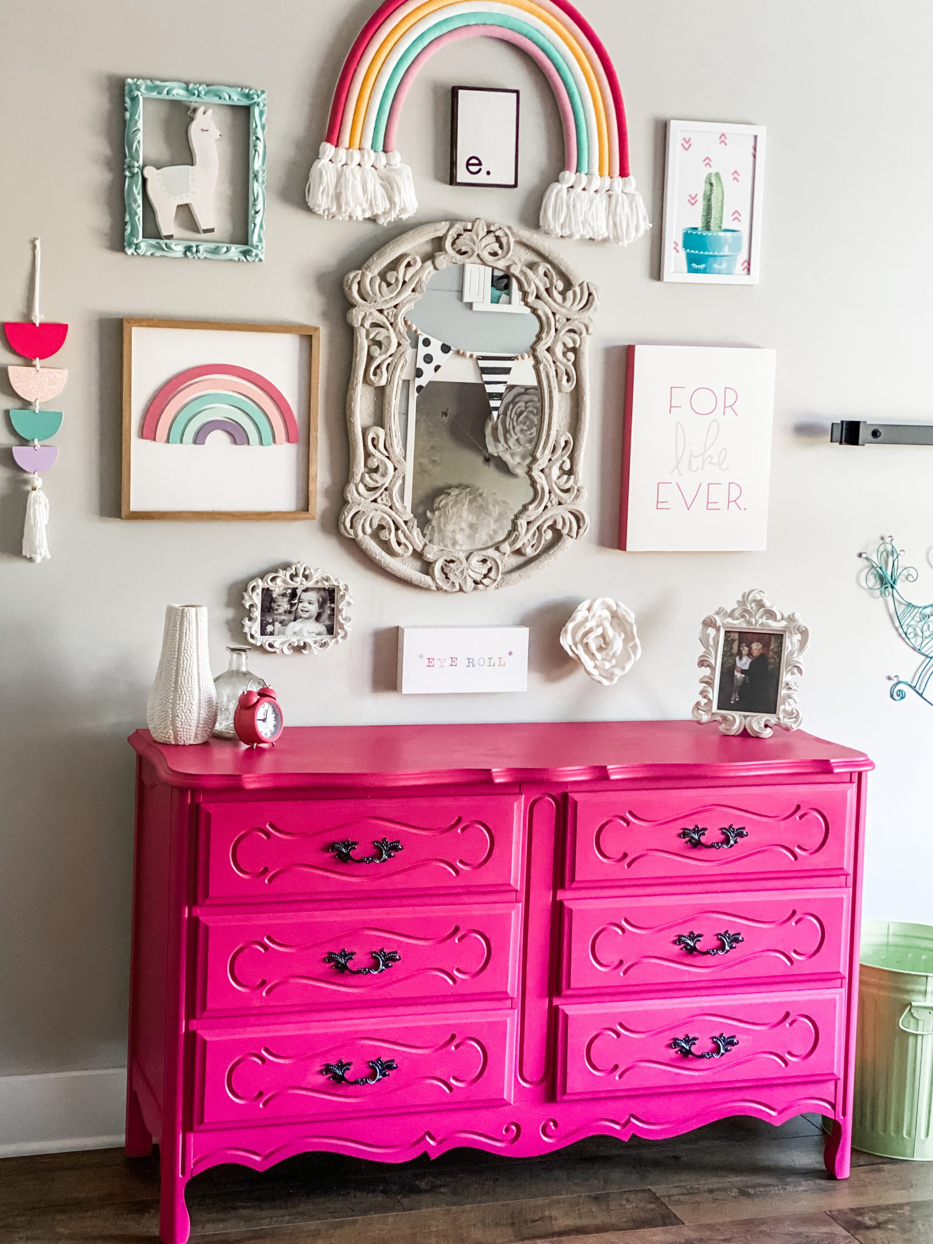 Little Girl S Bedroom Furniture Makeover Re Fabbed