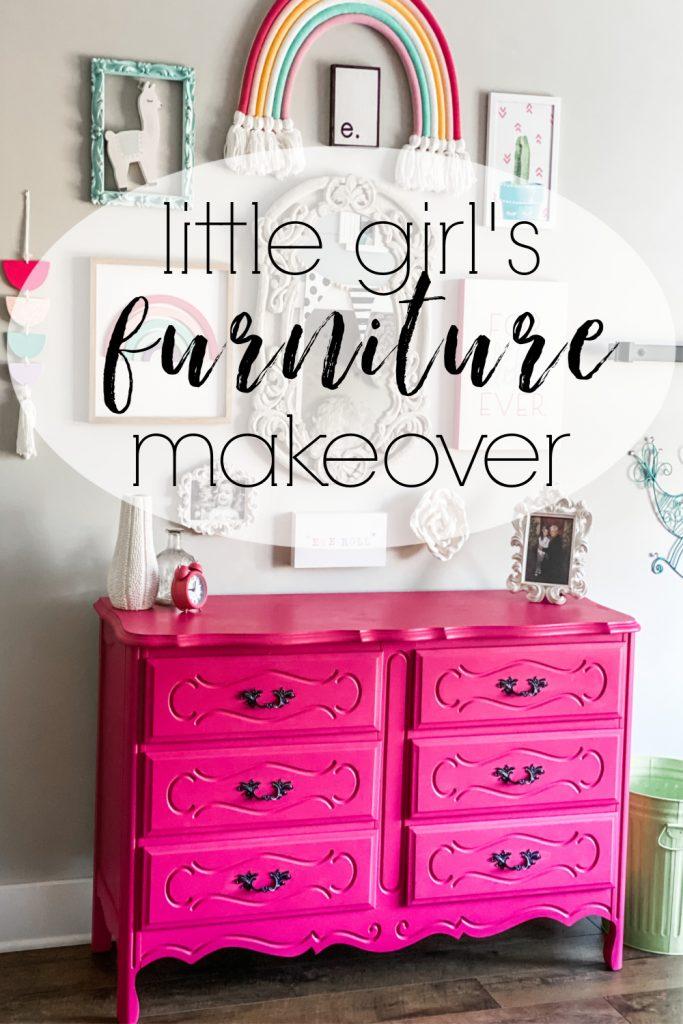 Bedroom Furniture Makeover, Little Girl Furniture
