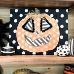 Dollar Tree Wood Pumpkin diy