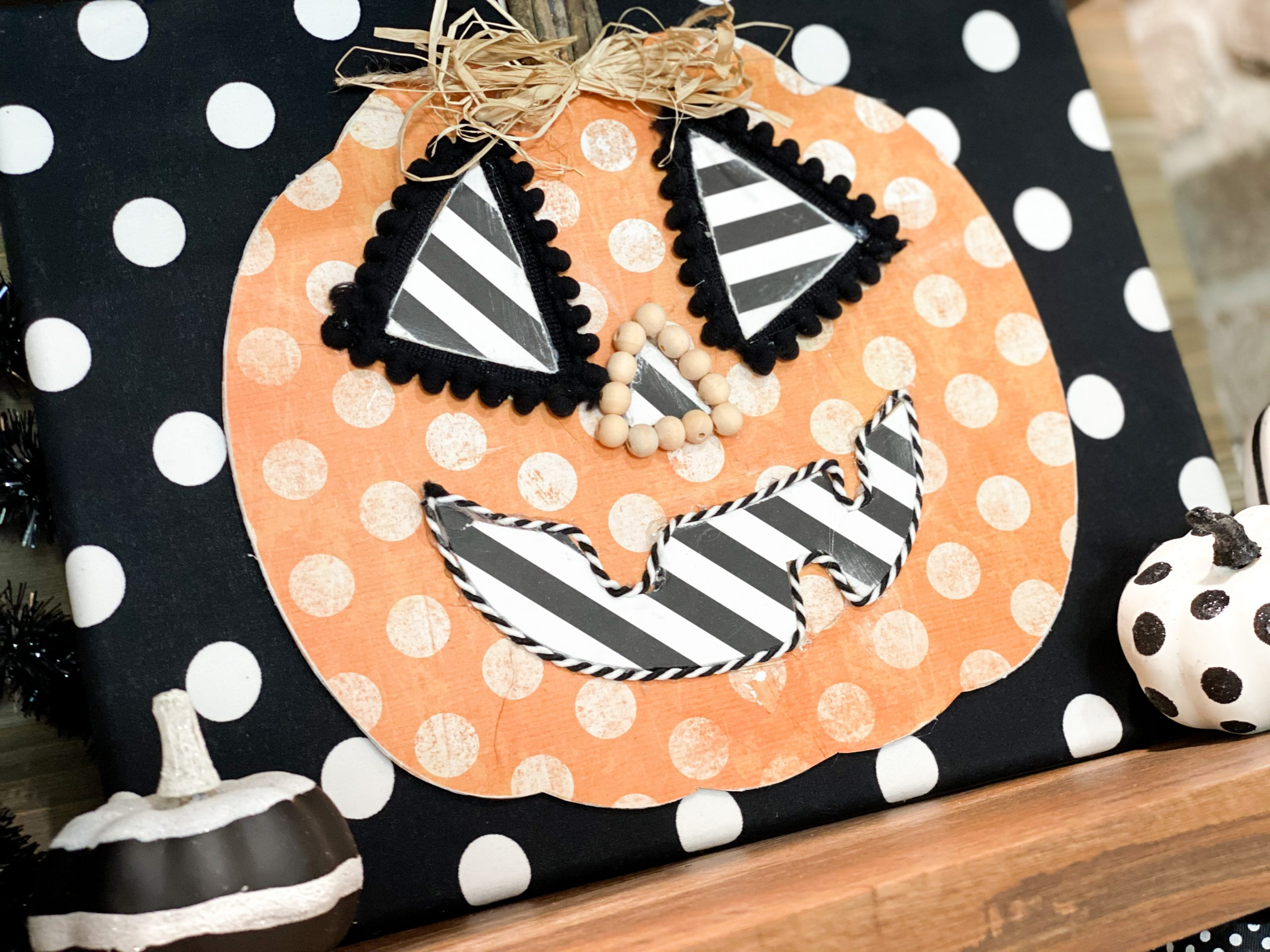 Dollar Tree Wood Pumpkin Diy42 Re Fabbed