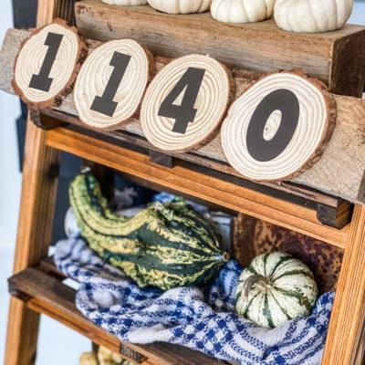 diy house number porch sign