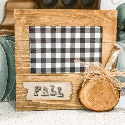 diy fall picture frame