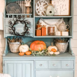 fall hutch decor