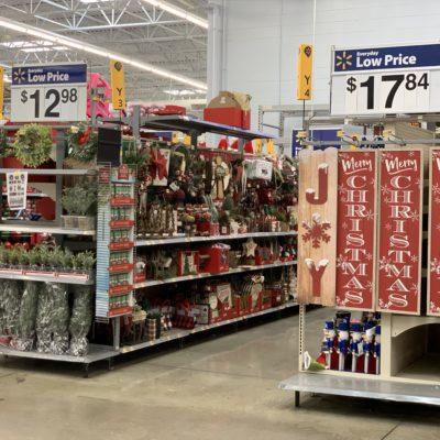 Christmas Decor at Walmart 2020