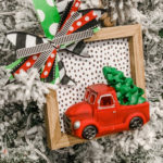 diy dollar store Christmas truck ornament