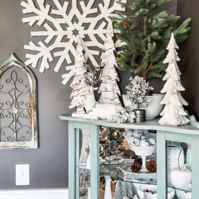 Christmas corner cabinet