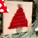 diy scarf Christmas tree