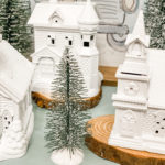 dollar tree christmas village makeover