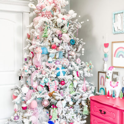 little girls Christmas tree
