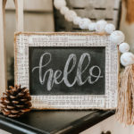 diy Dollar Tree neutral chalkboard