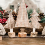 Dollar Tree cookie sheet trees