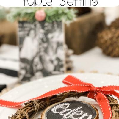 Sentimental Christmas table setting for family