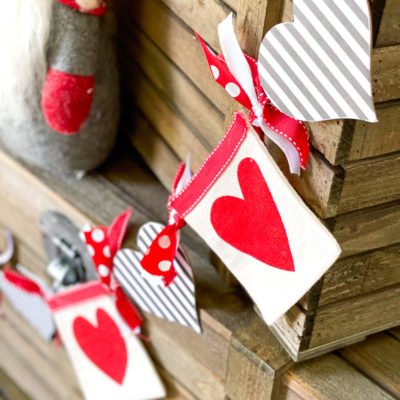 diy Dollar Tree Valentines banner