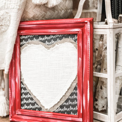diy framed table runner