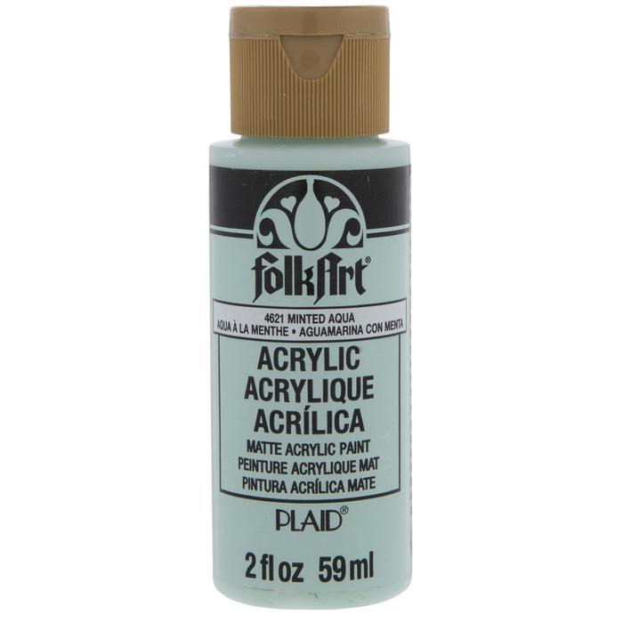 Minted Aqua FolkArt Acrylic Paint