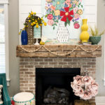Spring mantel decor