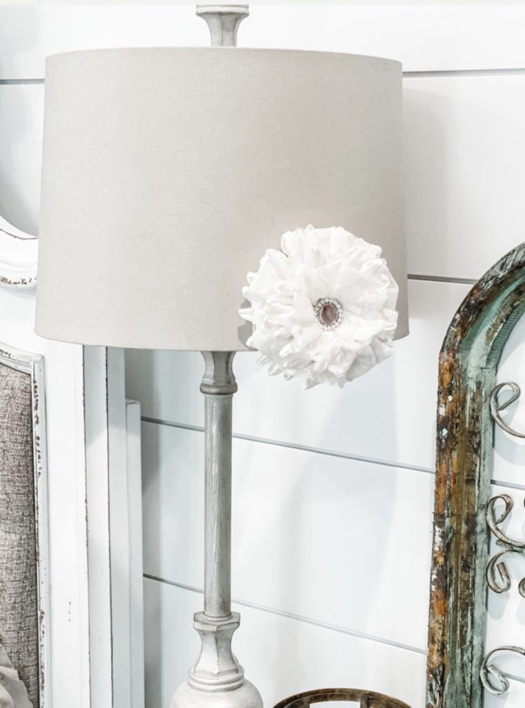 lamp with drapery clips added