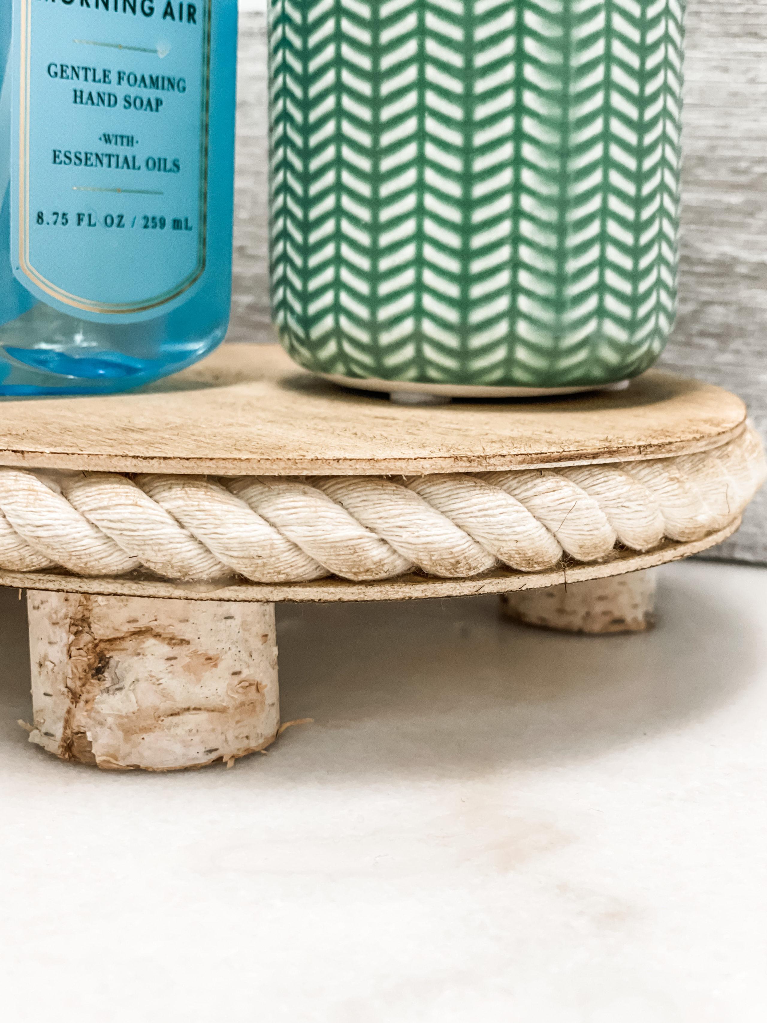 diy wooden riser using dollar tree items