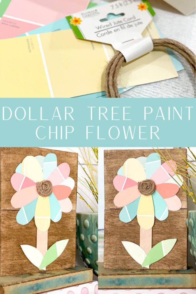 pinterest image for paint chip flower