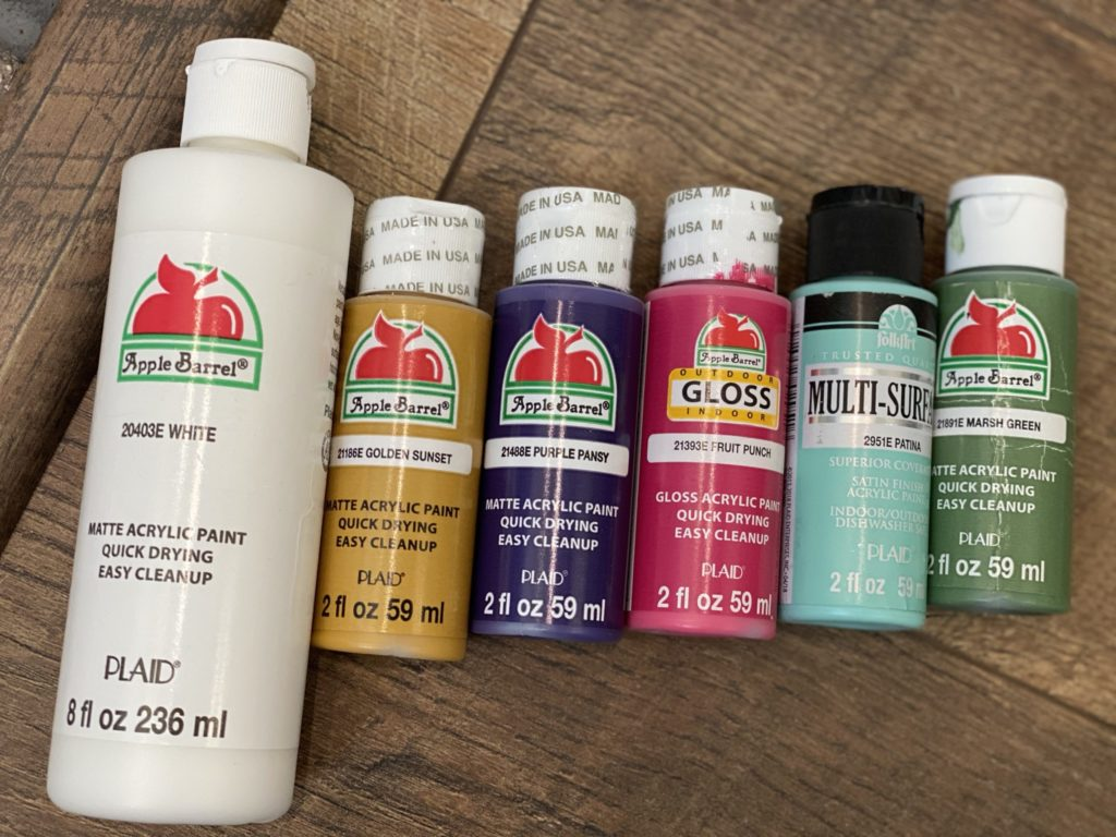 paints used for diy wildflower painting