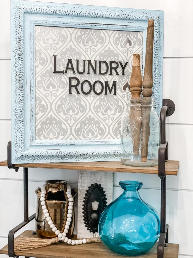 diy dollar tree laundry room sign
