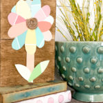 Dollar Tree paint chip flower