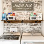 how to german smear faux brick (Hannah's laundry room makeover)