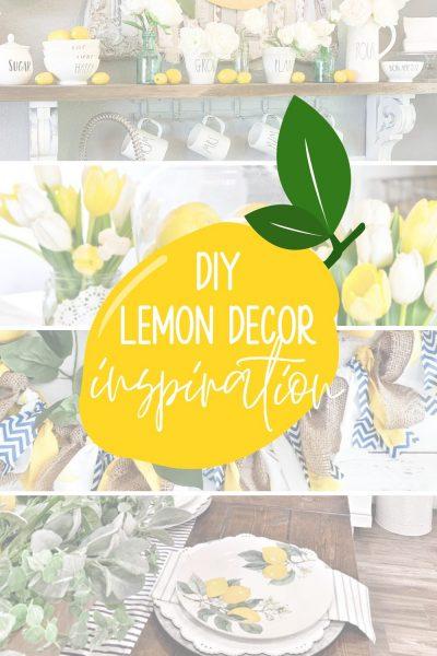 diy decor using lemons for summer