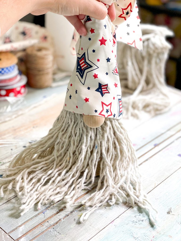 add patriotic fabric for the hat