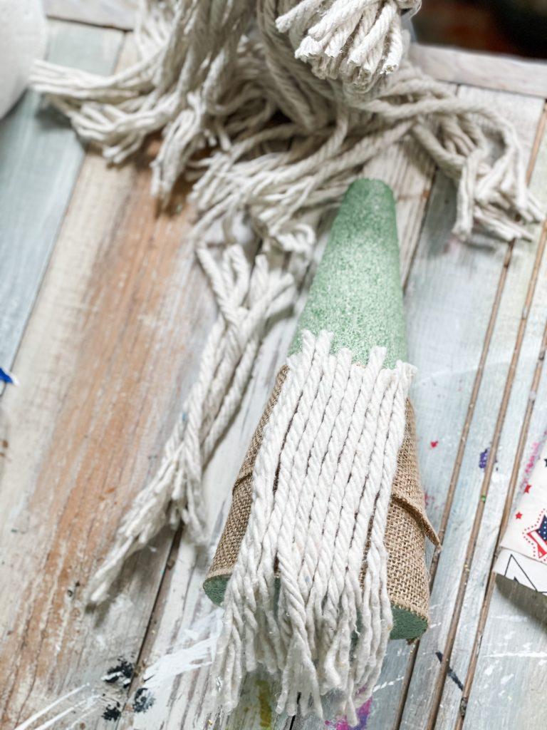 cut and glue on dollar tree mop