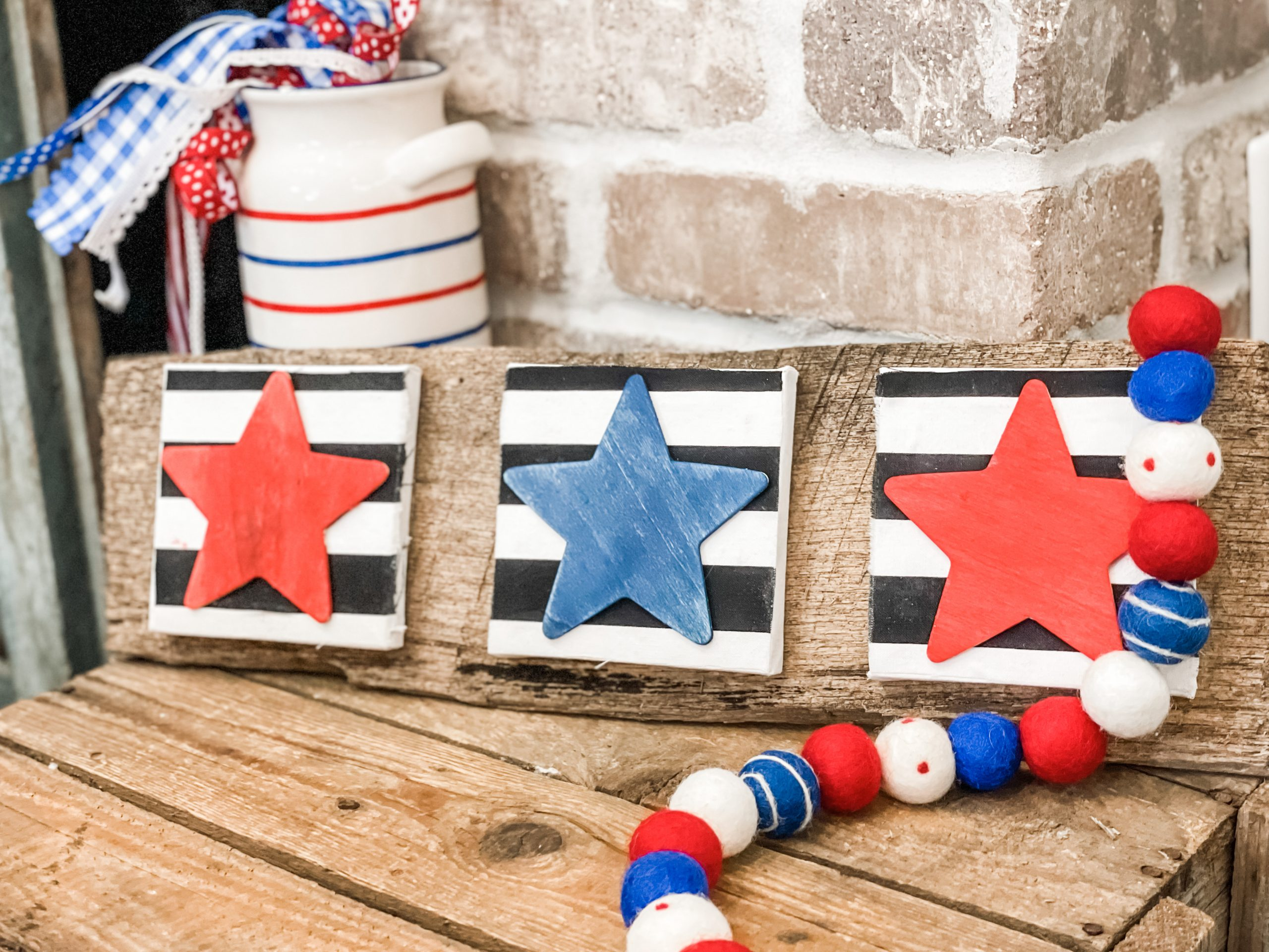 finished look of the stars and stripes sign