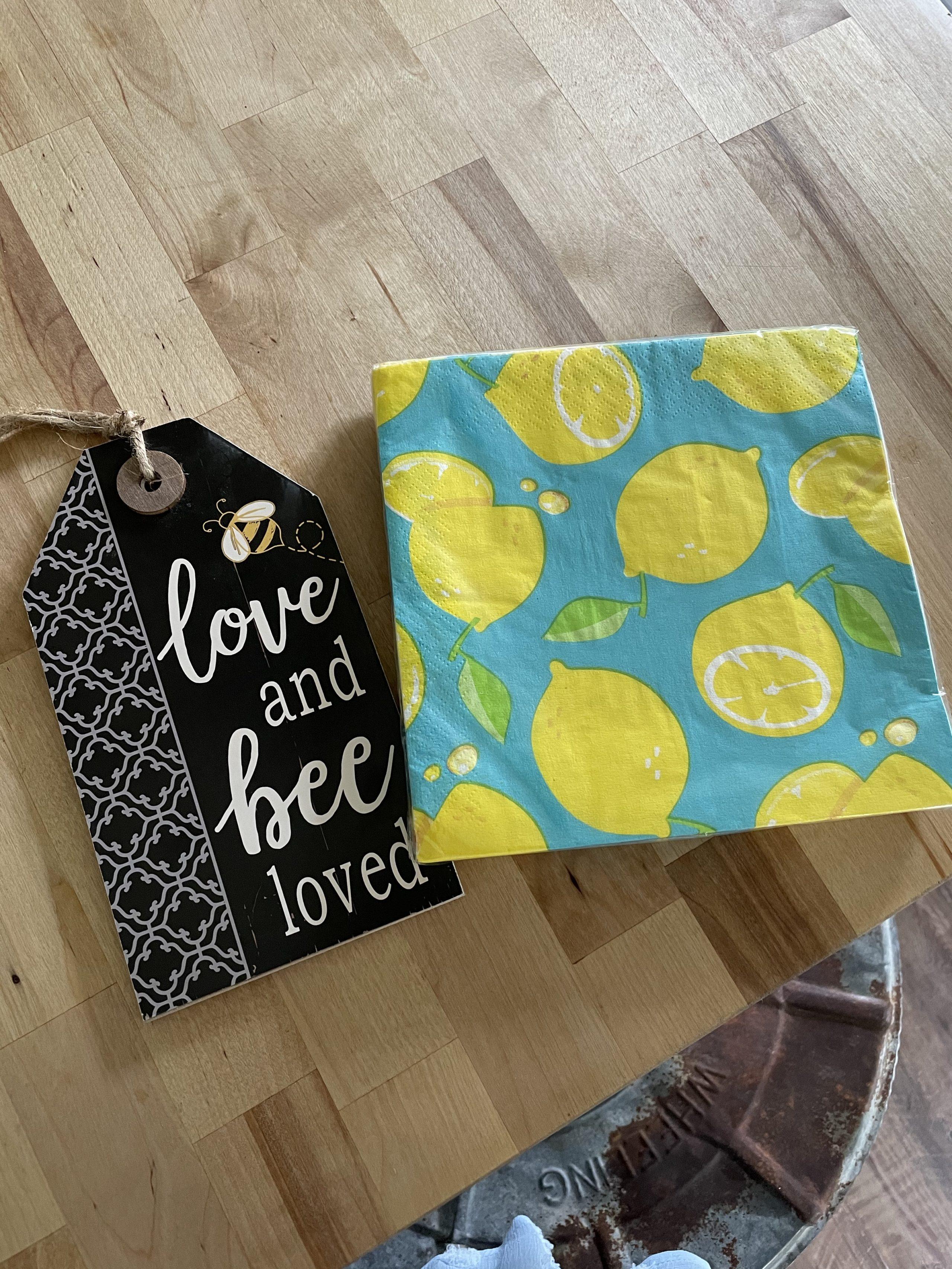 supplies for dollar store lemon sign