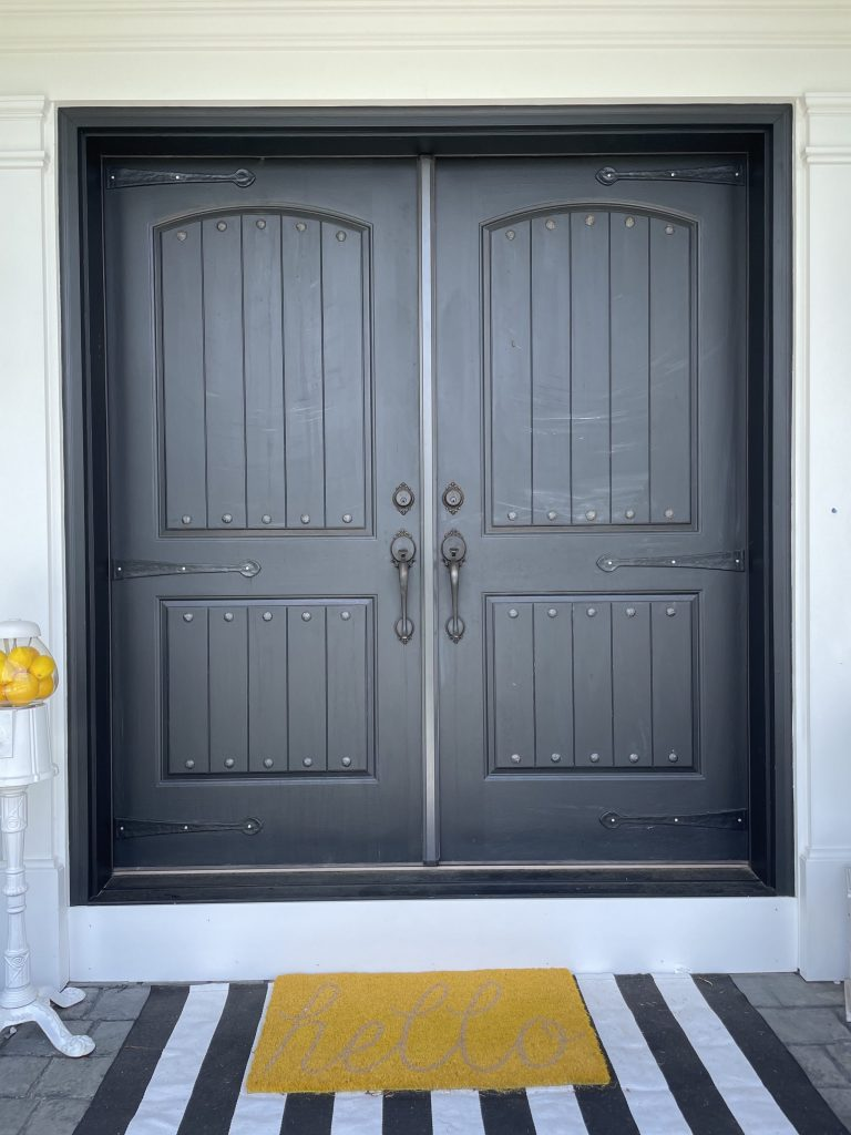 painting double front doors tidewater from sherwin williams