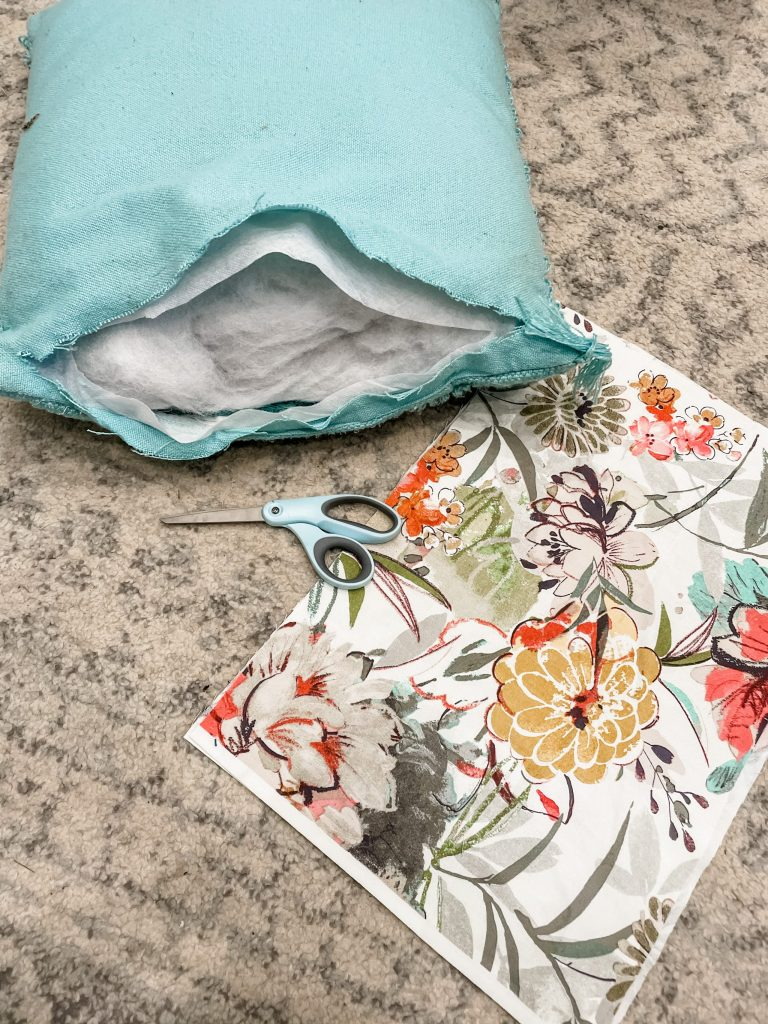 how to make a diy tied rag throw pillow