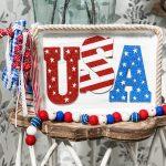 diy $3 distressed USA sign